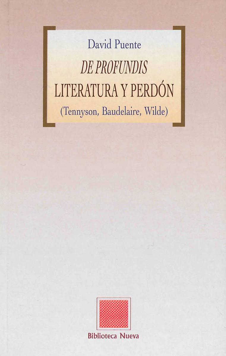 DE PROFUNDIS - LITERATURA Y PERDÓN: portada
