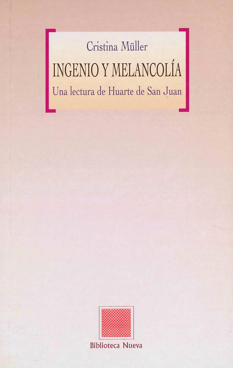 INGENIO Y MELANCOL�A: portada