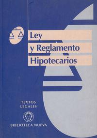 LEY Y REGLAMENTO HIPOTECARIO: portada