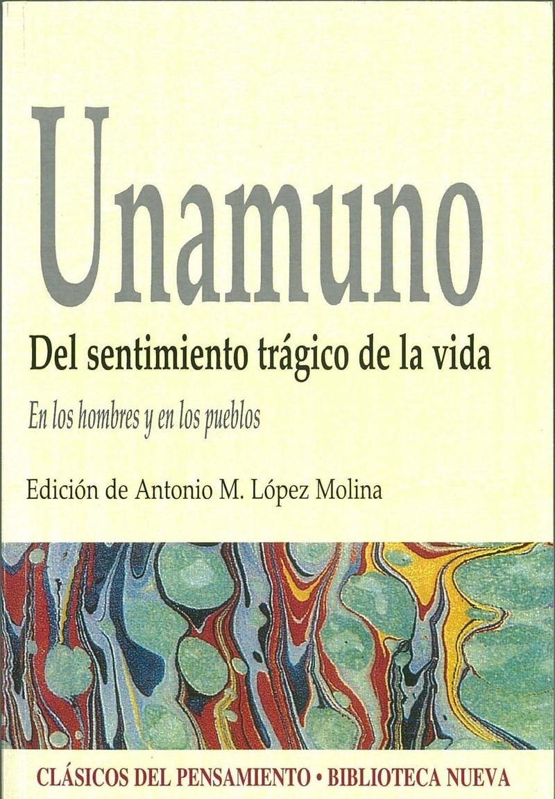 SENTIMIENTO TRÁGICO DE LA VIDA, DEL: portada