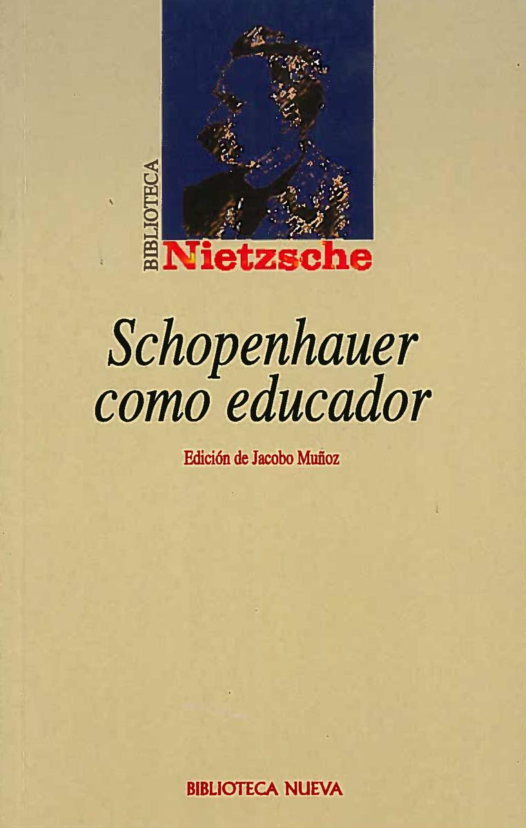 SCHOPENHAUER COMO EDUCADOR: portada