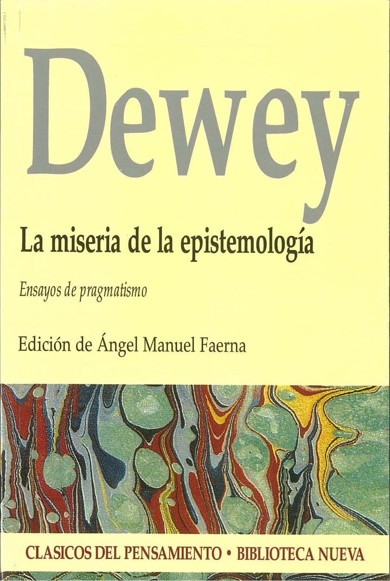 MISERIA DE LA EPISTEMOLOGÍA, LA: portada