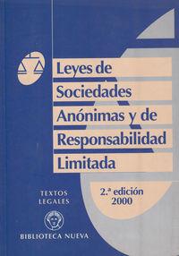 LEYES DE SOCIEDADES ANONIMAS Y DE RESPONSABILIDAD LIMITADA: portada
