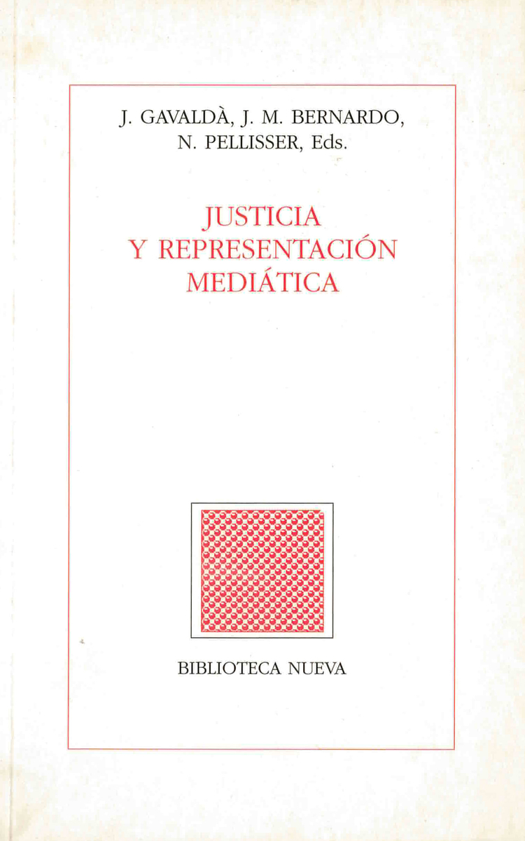 JUSTICIA Y REPRESENTACI�N MEDI�TICA: portada