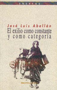 EL EXILIO COMO CONSTANTE Y COMO CATEGOR�A: portada