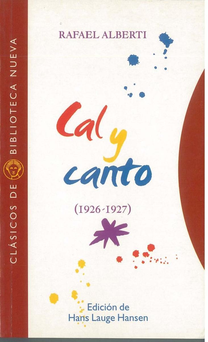 CAL Y CANTO [1926-1927]: portada