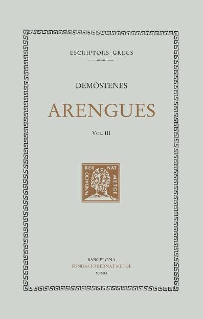 ARENGUES, VOL III: portada
