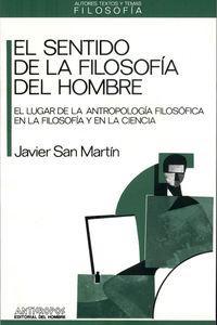SENTIDO DE LA FILOSOFIA DEL HOMBRE: portada