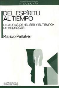DEL ESPIRITU AL TIEMPO: portada