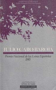 JULIO CARO BAROJA: portada
