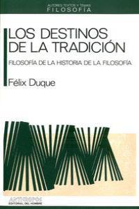 DESTINOS DE LA TRADICION: portada