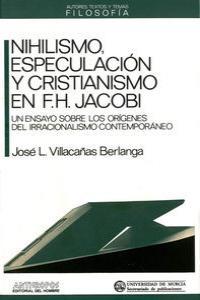 NIHILISMO ESPECULACION Y CRISTIANISMO: portada