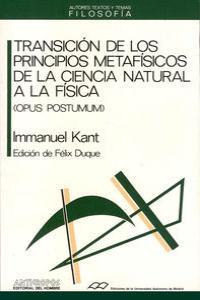 TRANSICION DE LOS PRINCIPIOS METAFISICOS: portada