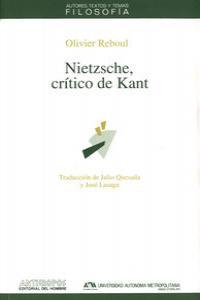 NIETZSCHE CRITICO DE KANT: portada