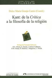 KANT DE LA CRITICA A LA FILOSOFIA DE LA RELIGION: portada
