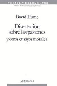 DISERTACION SOBRE LAS PASIONES (N. ED): portada