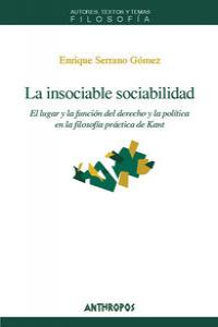 INSOCIABLE SOCIABILIDAD,LA: portada