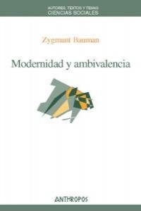 MODERNIDAD Y AMBIVALENCIA: portada