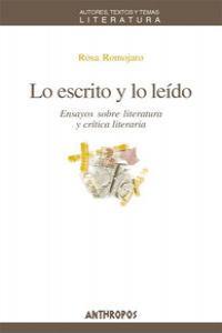 LO ESCRITO Y LO LEIDO: portada