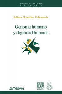 GENOMA HUMANO Y DIGNIDAD HUMANA: portada