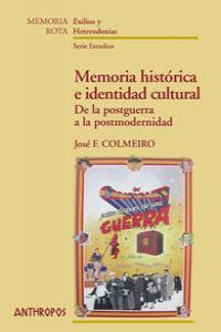MEMORIA HISTORICA E IDENTIDAD CULTURAL: portada