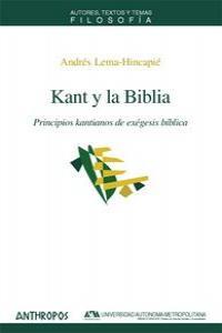 KANT Y LA BIBLIA: portada