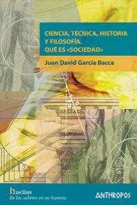 CIENCIA TECNICA HISTORIA Y FILOSOFIA: portada