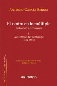 CENTRO EN LO MULTIPLE,EL I: portada