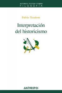 INTERPRETACION DEL HISTORICISMO: portada