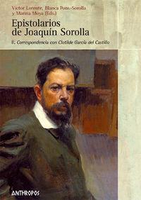 EPISTOLARIO  DE JOAQUIN SOROLLA. VOL II: CORRESPONDENCIA CON: portada