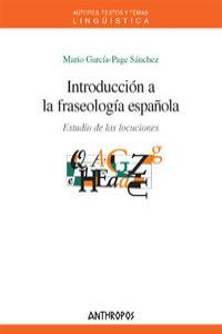 INTRODUCCION A LA FRASEOLOGIA ESPAÑOLA: portada