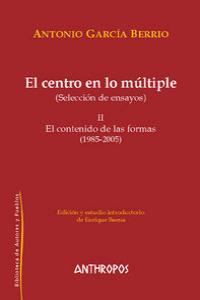 CENTRO EN LO MULTIPLE, EL II: portada