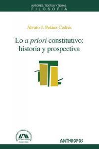 LO A PRIORI CONSTITUTIVO: portada