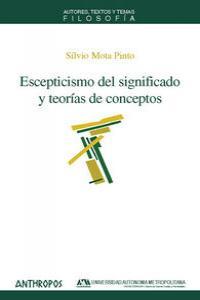 ESCEPTICISMO DEL SIGNIFICADO Y TEORIAS DE CONCEPTOS: portada