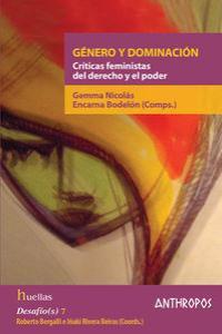 GENERO Y DOMINACION: portada