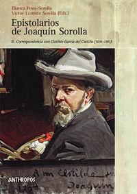 EPISTOLARIOS DE JOAQUIN SOROLLA VOL III: CORRESPONDENCIA CON: portada