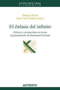 ENFASIS DEL INFINITO,EL: portada