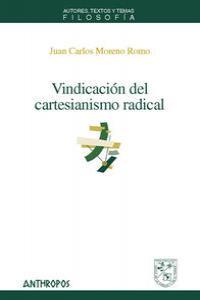 VINDICACION DEL CARTESIANISMO RADICAL: portada
