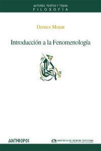 INTRODUCCION A LA FENOMENOLOGIA: portada