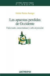APUESTAS PERDIDAS DE OCCIDENTE,LAS: portada