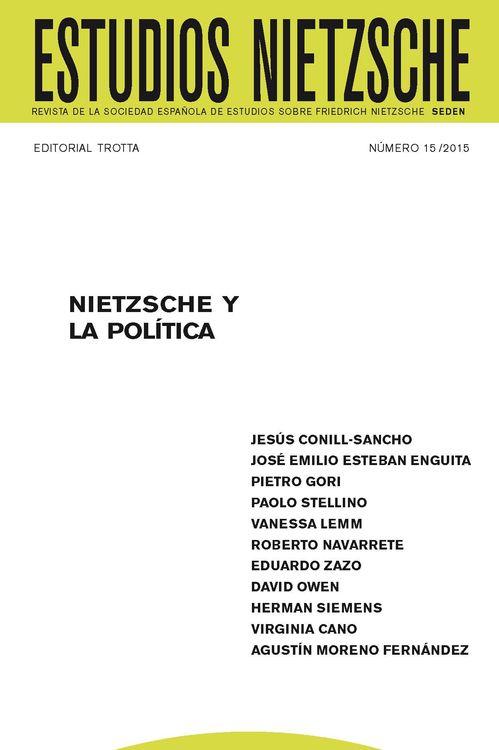 ESTUDIOS NIETZSCHE Nº15: portada