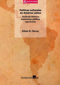 Políticas culturales en América Latina.: portada
