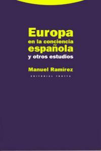 EUROPA EN LA CONCIENCIA ESPAñOLA Y OTROS ESTUDIOS: portada