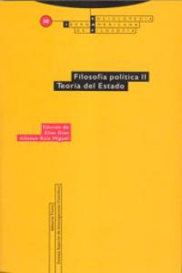 FILOSOFíA POLíTICA II. TEORíA DEL ESTADO: portada