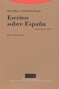 ESCRITOS SOBRE ESPAñA: portada