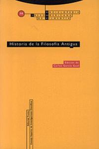 HISTORIA DE LA FILOSOF�A ANTIGUA: portada
