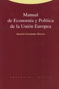 MANUAL DE ECONOMíA Y POLíTICA DE LA UNIóN EUROPEA: portada
