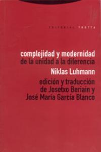 COMPLEJIDAD Y MODERNIDAD: portada