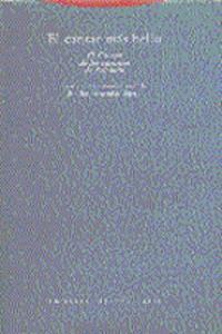 EL CANTAR M�S BELLO: portada