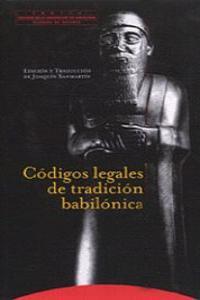 CóDIGOS LEGALES DE TRADICIóN BABILóNICA: portada